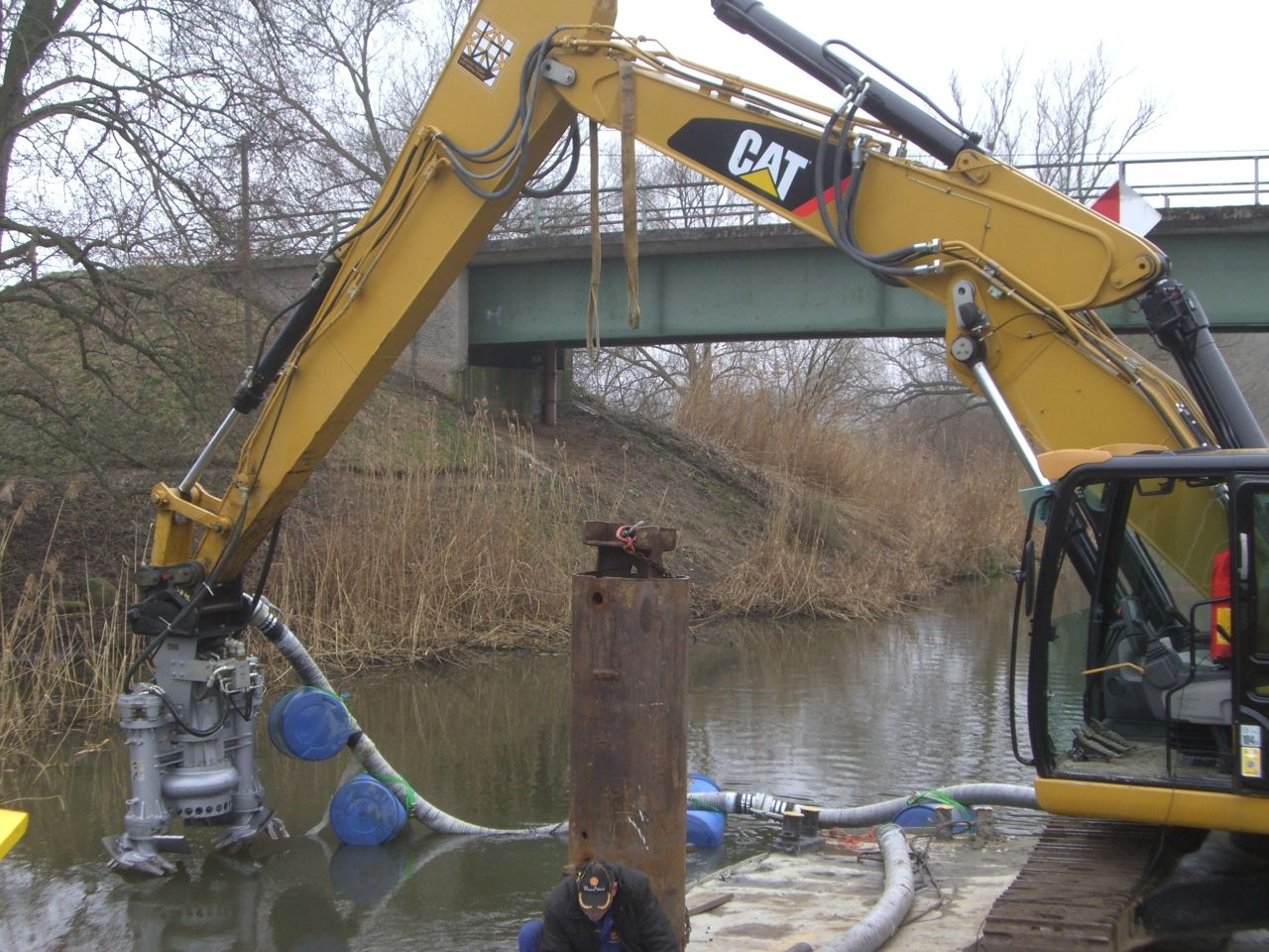 dredging with caterpillar